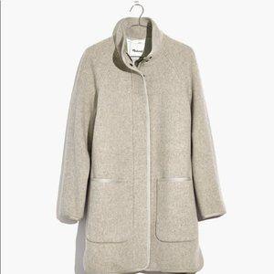 Madewell Estate Cocoon Peacoat Coat Gray Plus 3X